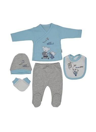 Sebi Bebe Sebi Bebe Koala 5'Li Bebek Hastane Çıkış Seti 1035 Turkuaz
